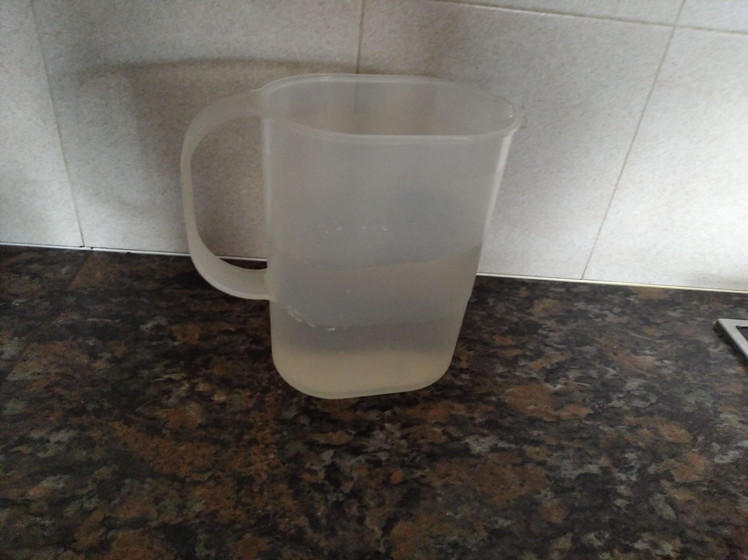 2/3 cups water & 1/2 cup cold water